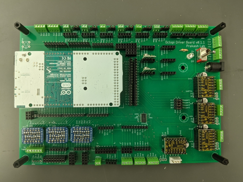 Photo of a monolithic PCB for the Squid microscope.